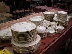 SeventyPiece Haviland Floral Transfer Decorated Porcelain Dinner Service