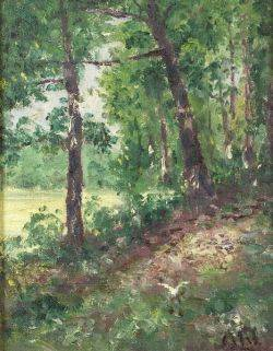 Henry Hammond Ahl American 18691953 Path Through the Woods