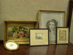 Miscellaneous Lot of Framed Works
