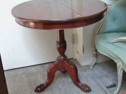 Georgianstyle Carved Mahogany Occasional Table