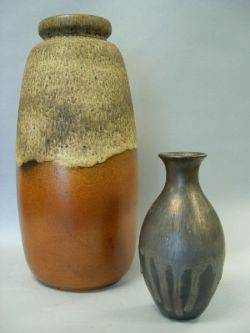 Two Modern Glazed Ceramic Vases