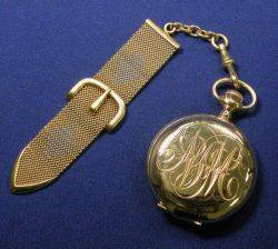 14kt Gold Hunting Case Pocket Watch American Watch Co