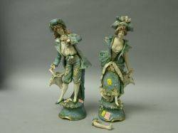 Pair of Austrian Porcelain Figures of a Lady and Gentleman