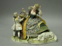 Dresdenstyle Porcelain Figural Group