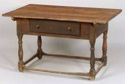 Pennsylvania Red Stained Pine and Poplar Tavern Table