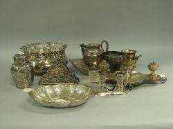 Nine Silver Plated Table Items