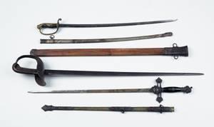 Three swords to include US model 1913 calvary sword
