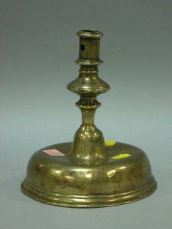 17th Century Continental Brass Candlestick