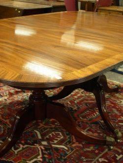 Regencystyle Mahogany and Mahogany Veneer DoublePedestal Dining Table