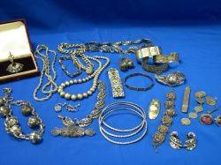 Assortment of Silver Jewelry and Accessories