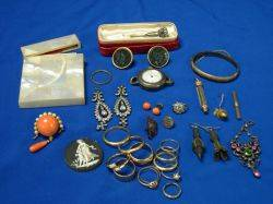 Assortment of Victorian Jewelry and Accessories