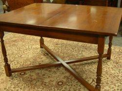 ConantBall Maple Dining Table with CrossedStretcher Base