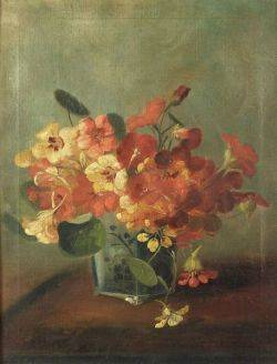 Frederick M Fenety American 18541915 Floral Still Life in Orange and Yellow