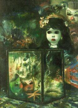 Jean Calogero Italian b 1922 Surrealist Still Life