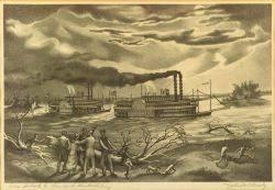 John McCrady American 19111968 The Robert E Lee and the Natchez