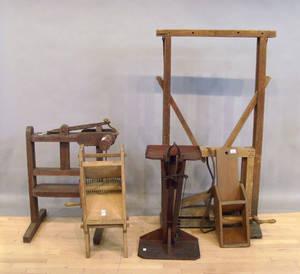 Five wood trade tools