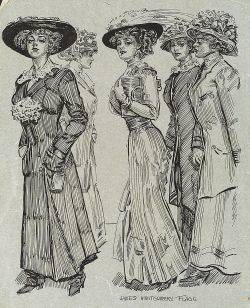 James Montgomery Flagg American 18771960 Five Ladies of Fashion