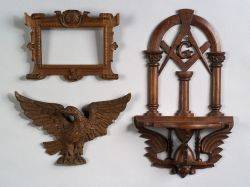 Three Carved Wooden Items