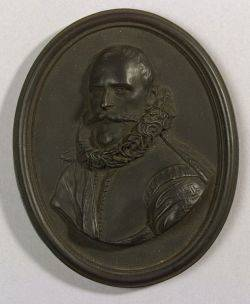 Wedgwood Black Basalt Portrait Medallion of Rombout Hogerbeets