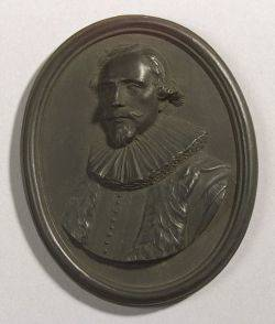 Wedgwood Black Basalt Portrait Medallion of Jacob Cats