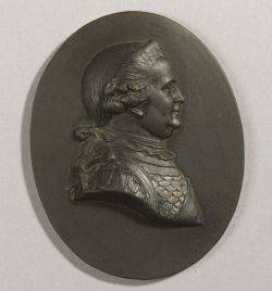Wedgwood Black Basalt Portrait Medallion of Charles William Brunswick