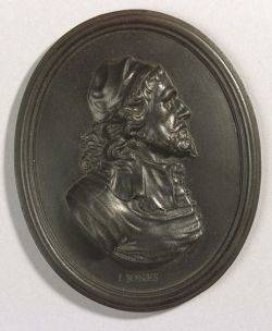 Wedgwood Black Basalt Portrait Medallion of Inigo Jones