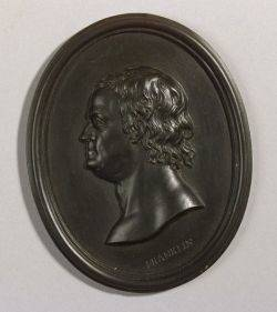 Wedgwood Black Basalt Portrait Medallion of Benjamin Franklin