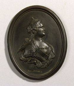 Wedgwood Black Basalt Portrait Medallion of Catherine II