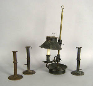Tin table top lamp
