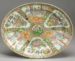 Oval Porcelain Serving Tray