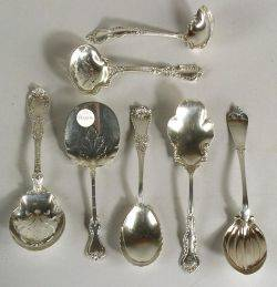 Seven American Sterling Flatware Serving Pieces