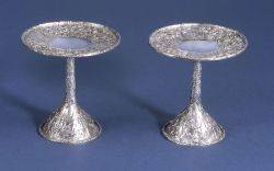 Pair of American Sterling Repousse Tazzae