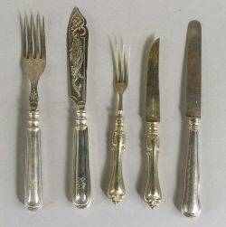 Group of Continental Flatware