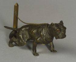 Two Small Canine Bronzes