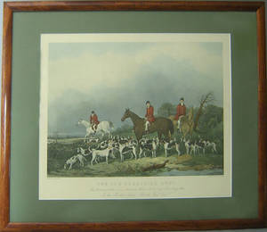English fox hunt print after John Goode