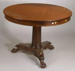 American Classical Mahogany Circular Breakfast Table