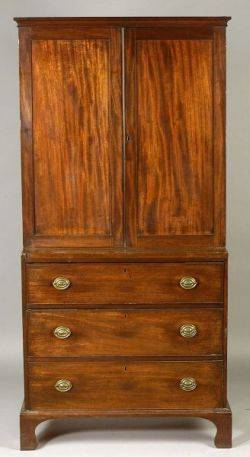 Victorian Mahogany BookcaseChest of Drawers
