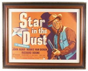 Star in the Dust Framed One Sheet Movie Poster
