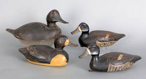Four Canadian duck decoys mid 20th c