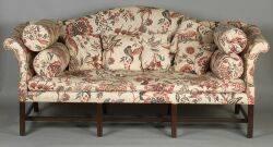 George III Mahogany Camelback Sofa