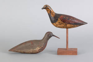 Two shore bird decoys early 20th c
