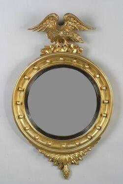 George IIIstyle Giltwood Convex Mirror