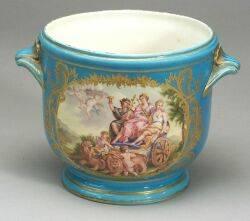 Sevresstyle Porcelain Cache Pot