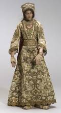 Wooden Articulated Artists Lay Figure of a Lady in Elizabethan Dress
