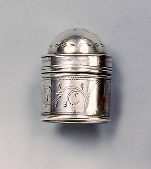 Philadelphia silver nutmeg grater ca 1800