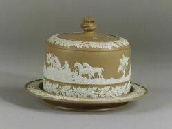 English Jasperware Cheese Dome