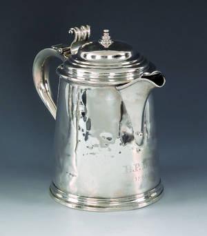 Newport Rhode Island silver tankard ca 1715