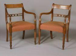 Pair Regency Colonial Armchairs