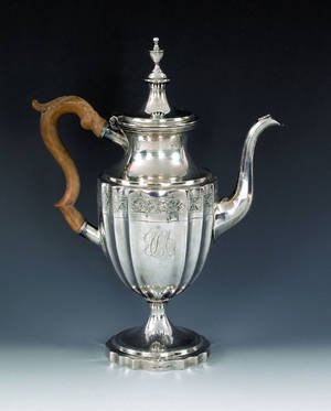 Philadelphia silver coffee pot ca 1800