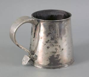 Newport Rhode Island silver tankard ca 1720